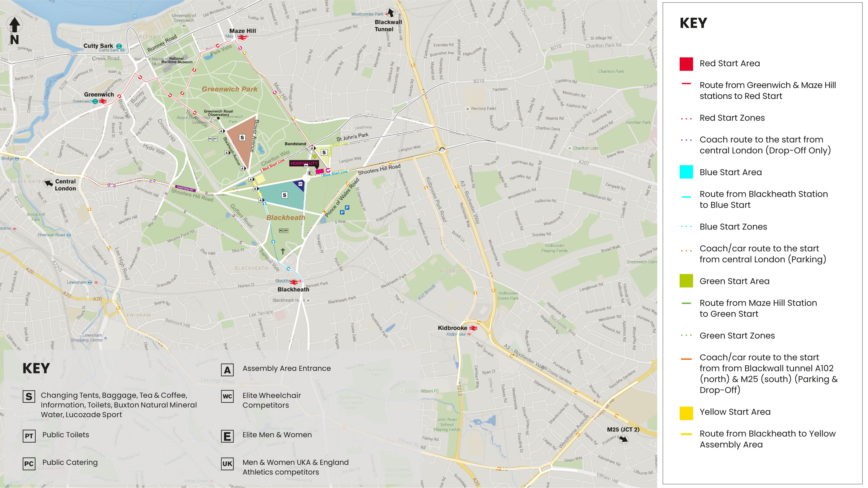 Map Of Areas In London.Virgin Money London Marathon